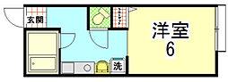 パンションエトワールデュノール[103号室]の間取り