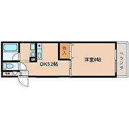 奈良県奈良市二条町の賃貸マンションの間取り