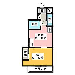 第5名昭ビル[4階]の間取り