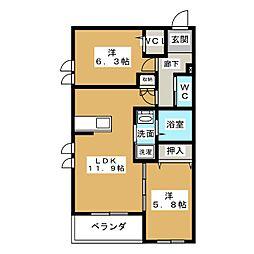 オイト(OITO)[1階]の間取り