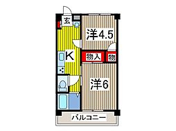 つくし第7マンション[1階]の間取り