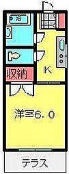 サンコーポ広瀬[106号室号室]の間取り