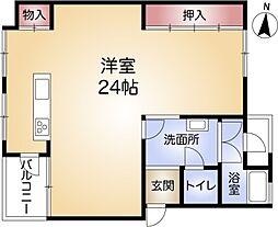 兵庫県神戸市長田区五位ノ池町2丁目の賃貸マンションの間取り