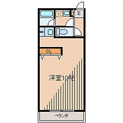神奈川県相模原市南区東林間3丁目の賃貸マンションの間取り