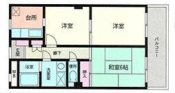 神奈川県横浜市都筑区東方町の賃貸マンションの間取り