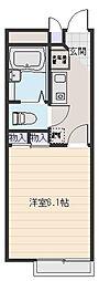 大阪府八尾市明美町2丁目の賃貸アパートの間取り