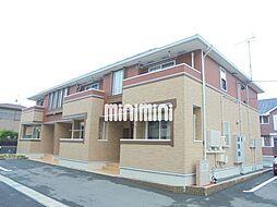 静岡県磐田市海老塚の賃貸アパートの外観