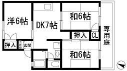 兵庫県伊丹市荻野5丁目の賃貸アパートの間取り