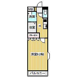 愛知県名古屋市中川区戸田5の賃貸マンションの間取り