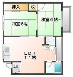 トキワマンション[3階]の間取り