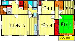 [一戸建] 東京都足立区中川4丁目 の賃貸【東京都 / 足立区】の間取り