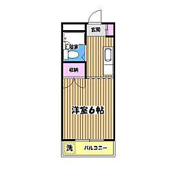 東京都羽村市双葉町2丁目の賃貸マンションの間取り