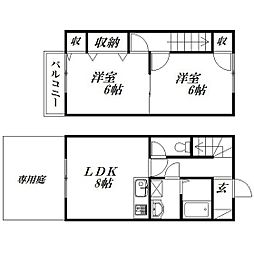 [一戸建] 静岡県浜松市中区上島7丁目 の賃貸【/】の間取り