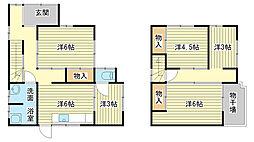 [一戸建] 兵庫県姫路市網干区興浜 の賃貸【/】の間取り