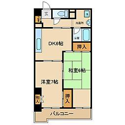 ハミングマンション[203号室]の間取り