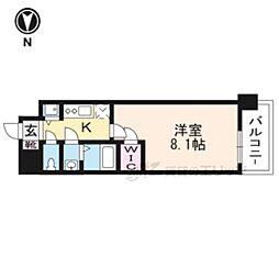 JR東海道・山陽本線 西大路駅 徒歩6分の賃貸マンション 3階1Kの間取り