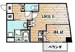 PIAGET[3階]の間取り
