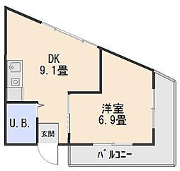 グランディービル奈良道[1階]の間取り