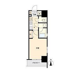 ブランシエスタ東別院 4階1Kの間取り