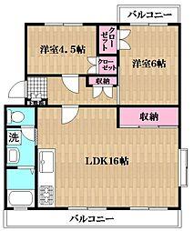 グランドマンション南行徳[2階]の間取り