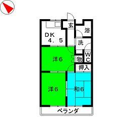 エスポワールロイヤル[3階]の間取り