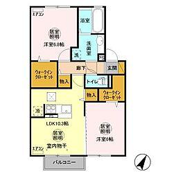 (仮称)D−room宮田町A[2階]の間取り