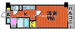 JR山陽本線 瀬戸駅 徒歩5分の賃貸マンション 3階1Kの間取り