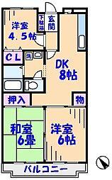 マノワールシーズ[3階]の間取り