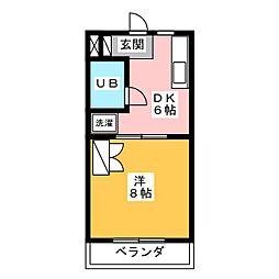 グッドフェローズ[1階]の間取り