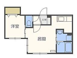 仮)北5西13MS B棟[4階]の間取り