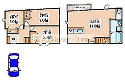 [一戸建] 大阪府堺市西区浜寺昭和町4丁 の賃貸【/】の間取り
