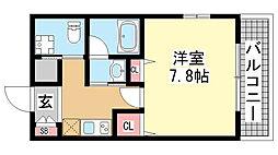 庵[405号室]の間取り