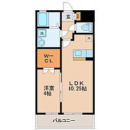 仙台市営南北線 愛宕橋駅 徒歩23分の賃貸アパート 1階1LDKの間取り