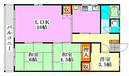 フローラコヤナギ[203号室]の間取り