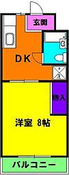 静岡県浜松市浜北区小林の賃貸マンションの間取り