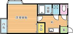 ミルフィーユII[2階]の間取り