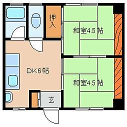ナゴヤマンション[403号室]の間取り
