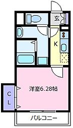近鉄南大阪線 河内天美駅 徒歩4分の賃貸アパート 1階1Kの間取り