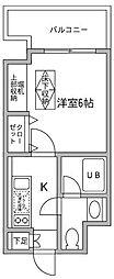 東京都江東区平野3丁目の賃貸マンションの間取り