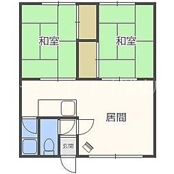 古川荘[2階]の間取り