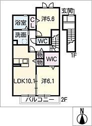仮)D−room豊田市四郷町II[2階]の間取り