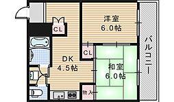 ルナハイム野田[202号室]の間取り