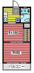 岸町八番館[5階]の間取り