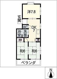 レジデンス新清洲[4階]の間取り