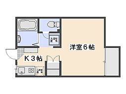 広島県広島市佐伯区五日市2丁目の賃貸アパートの間取り