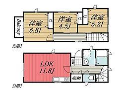 [一戸建] 千葉県千葉市若葉区貝塚1丁目 の賃貸【/】の間取り