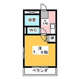 メゾン・マ・シャンブル[1階]の間取り