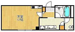 クレアジオーネ中之島西[8階]の間取り