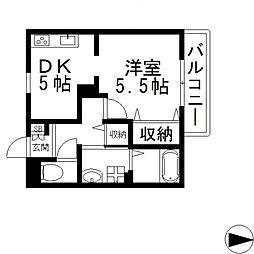 メゾン ド フルーレ[B203号室号室]の間取り