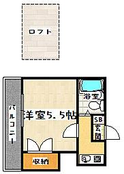 山科小山ハイツ[202号室]の間取り